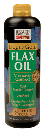 FLAX ORG GOLD LQ 16 OZ