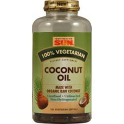 100% COCONUT OIL SOFT GELS  180 SOFTGEL