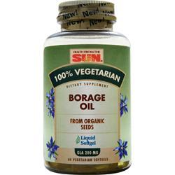 100% VEGETARIAN BORAGE OIL SOFTGEL  60 CT