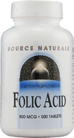 FOLIC ACID 800 MCG 500 TABS