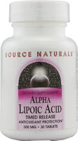 ALPHA LIPOIC ACID TIMED RELEASE 300 MG 30 TABS