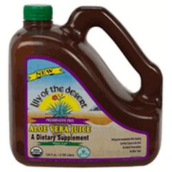 ALOE VERA JUICE WHOLE LEAF PRESERVATIVE FREE  128 OZ
