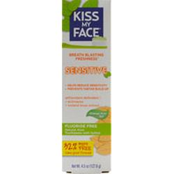SENSITIVE GEL WHITENING TOOTHPASTE WITH ALOE VERA COOL ORANGE MINT  4.5 OZ