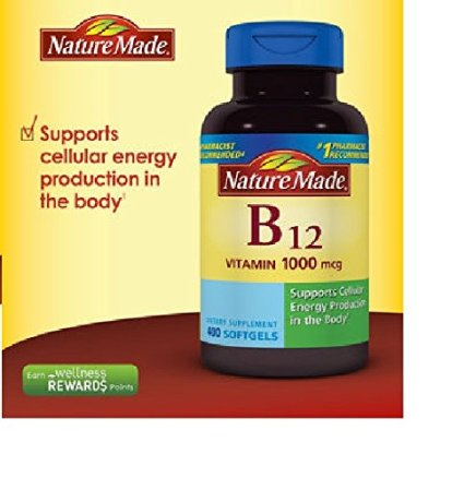 Vitamin B12 1,000 mcg., 400 Softgels