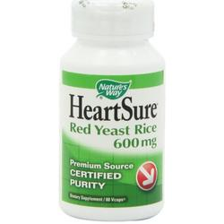 HEARTSURE RED YEAST RICE 1200MG  60 CAP VEGI