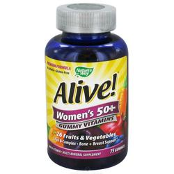 ALIVE! WOMEN'S 50+ GUMMY MULTI VITAMIN  75 CT