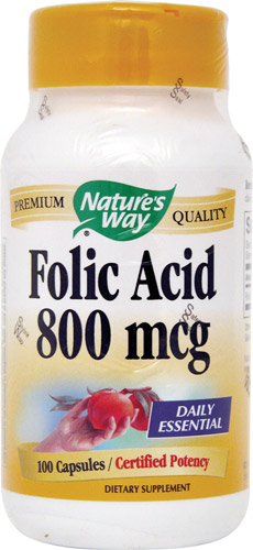FOLIC ACID 800 MCG 100 CAPS
