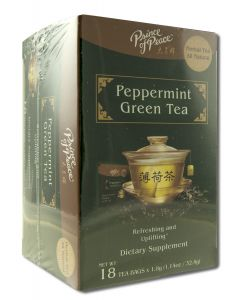 PEPPERMINT GREEN TEA  18 BAG