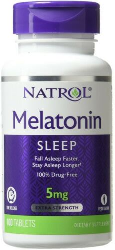 MELATONIN 5 MG TIME RELSE 100 TAB