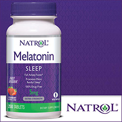 MELATONIN 5 MG 250 FAST DISSOLVE TABS STRAWBERRY