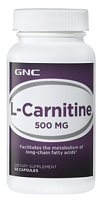 L-CARNITINE 500MG, 60 CAPS