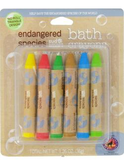 ENDANGERED SPECIES CARDED BATH CRAYONS  6 CT