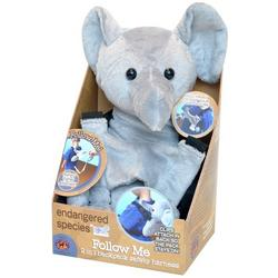 ENDANGERED SPECIES FOLLOW ME BACKPACK/SAFETY TAIL-ELEPHANT  1 SET