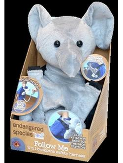 ENDANGERED SPECIES TRAVEL BUDDY-ELEPHANT/PANDA ASST'D  1 CT