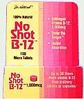 NO-SHOT B-12 1000MG HOMEOPATHIC SUBLINGUAL  100 TABLET