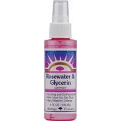 FLOWER WATER ROSE/GLYCERINE W/ATOMIZER  4 OZ