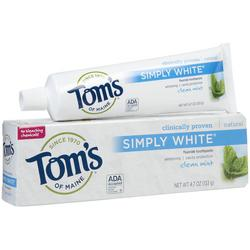 CLEAN MINT SIMPLY WHITE TOOTHPASTE 4.7 OZ  4.7 OZ