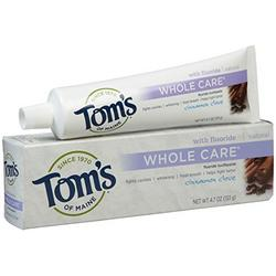 TOOTHPASTE WHOLE CARE W/FLUORIDE CINN-CLOVE  4.7 OZ