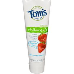 SILLY STRAWBERRY FLUORIDE-FREE CHILDREN'S NATURAL TOOTHPASTE  4.2 OZ