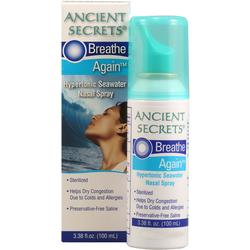 BREATHE AGAIN-STERILIZED HYPERTONIC SEAWATER NASAL  3.38 OZ