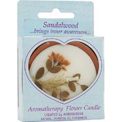 FLOWER CANDLE SANDAL MEDIUM ROUND  1 UNIT