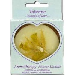 FLOWER CANDLE TUBEROSE MEDIUM ROUND  1 UNIT