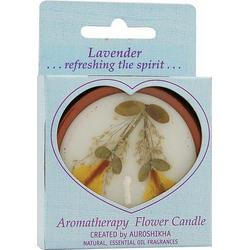 FLOWER CANDLE LAVENDER MEDIUM ROUND  1 UNIT