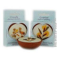 FLOWER CANDLE TUBEROSE LARGE ROUND  1 UNIT