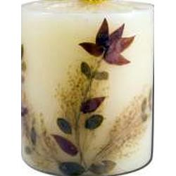 FLOWER CANDLE ORANGE BLOSSOM PILLAR  1 UNIT