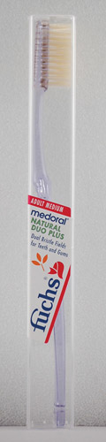 NATURAL DUO PLUS TOOTHBRUSH MEDIUM  1 UNIT