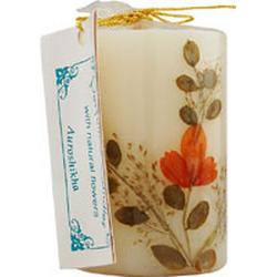 FLOWER CANDLE VANILLA CYLINDRICAL  4.6 CM
