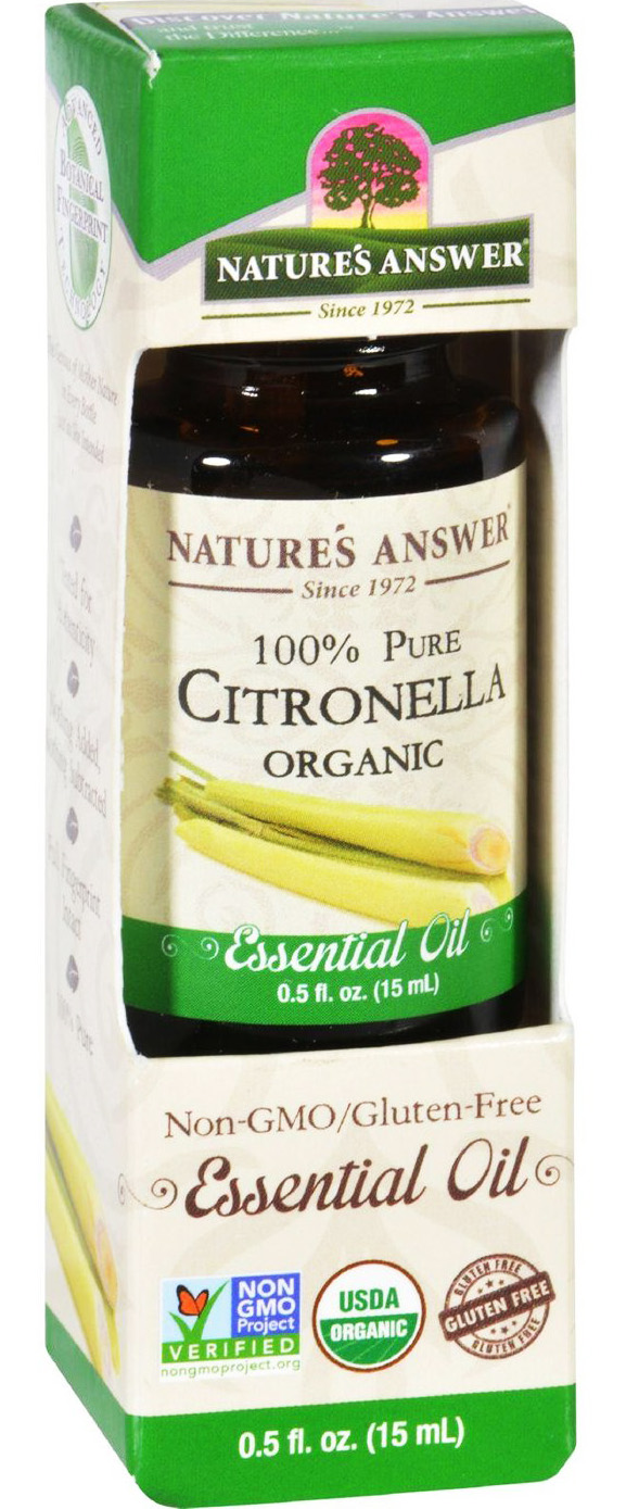 ESSENTIAL OIL ORGANIC CITRONELLA  0.5 OZ