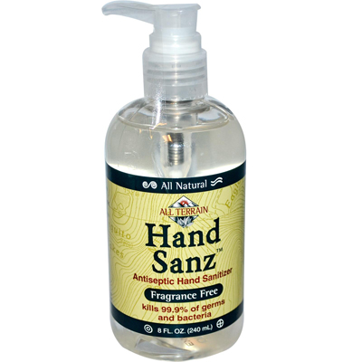 HAND SANZ,FRAGRANCE FREE 8 OZ