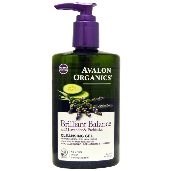 BRILLIAN BALANCE CLEANSING GEL WITH LAVENDER & PREBIOTICS  8 OZ
