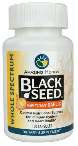 Black Seed with Garlic  100 capsule