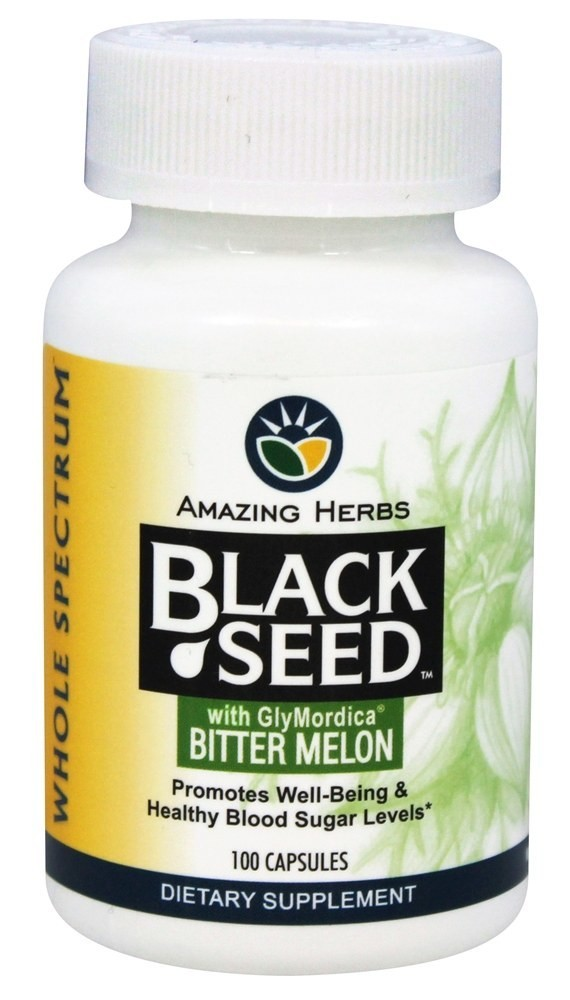 Black Seed with Glymordica Bitter Melon  100 capsule