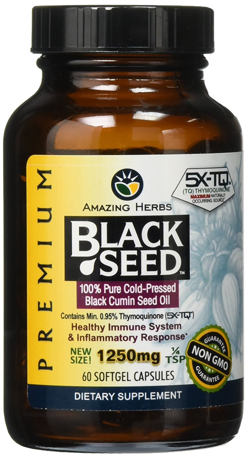 Premium Black seed Oil 1250mg  60 softgel