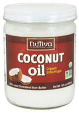 ORGANIC EXTRA-VIRGIN COCONUT OIL (GLASS JAR)  15 OZ