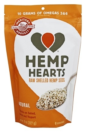 HEMP HEARTS (RAW SHELLED)  8 OZ