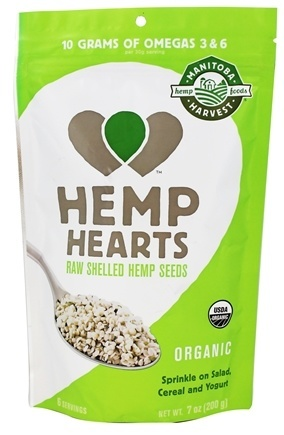 HEMP HEARTS ORGANIC (RAW SHELLED)  7 OZ