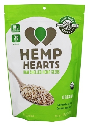 HEMP HEARTS ORGANIC (RAW SHELLED)  12 OZ