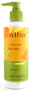 FACIAL WASH,COCONUT MILK 8 OZ