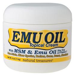 EMU OIL CREAM W/MSM, ALOE, & VIT C  4 OZ